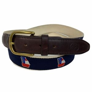 State Traditions Georgia Ribbon Canvas Belt